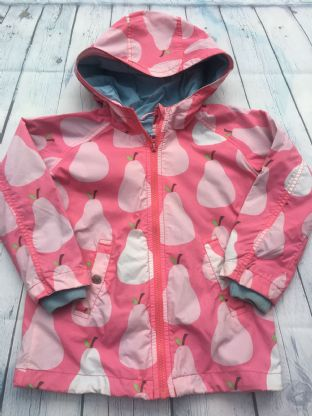 Mini Boden pink pears summer coat age 4-5